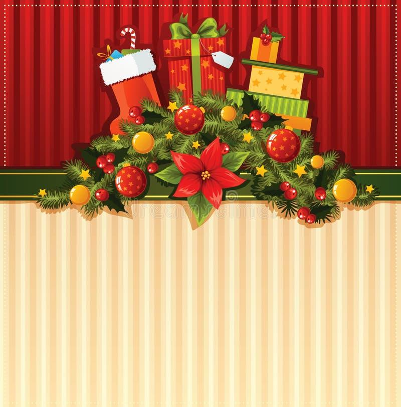 Boże Narodzenie tapeta ilustracja wektor