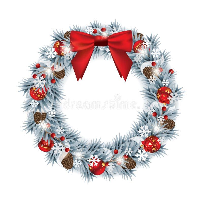 Boże Narodzenie wianek ilustracji