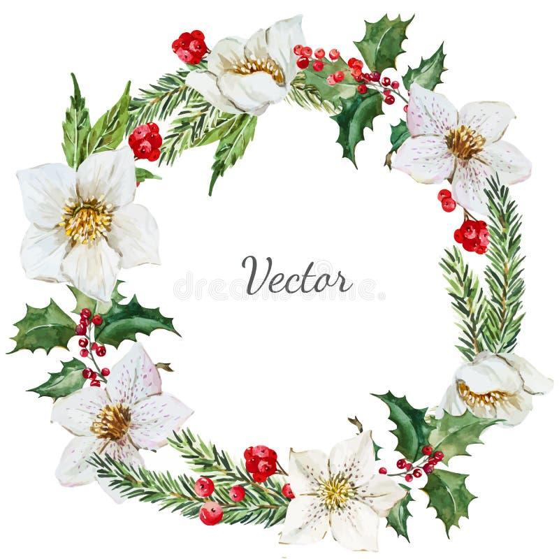 Boże Narodzenie wianek royalty ilustracja