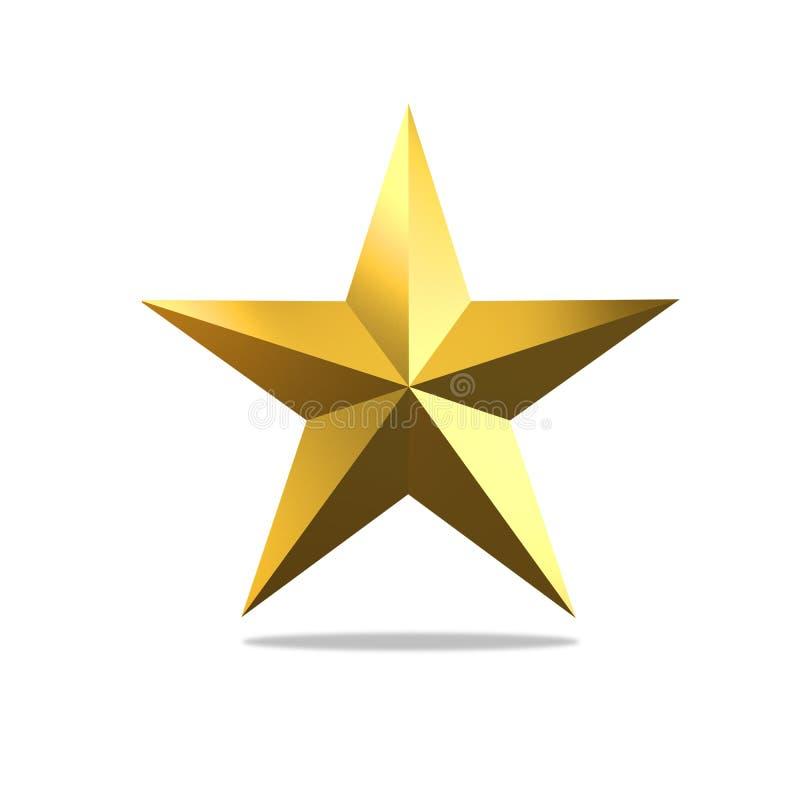boże narodzenie złota gwiazda zdjęcia royalty free