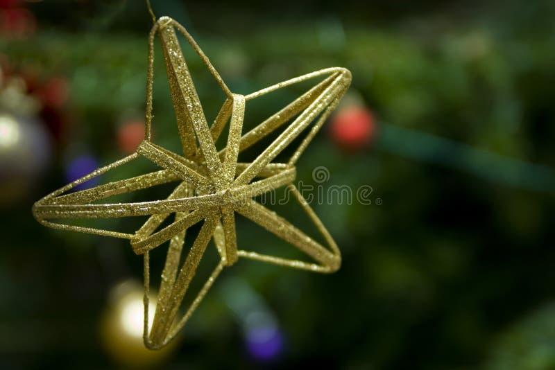 boże narodzenie złota gwiazda obrazy royalty free