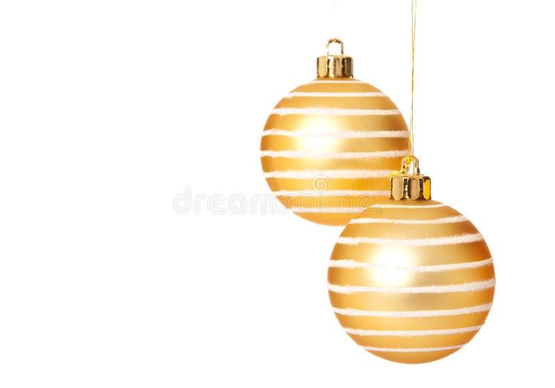 Boże Narodzenie złote piłki obrazy stock