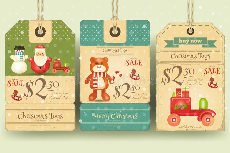Boże Narodzenie zabawek sprzedaży etykietki royalty ilustracja