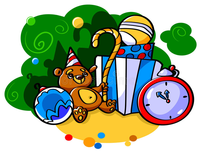 boże narodzenie zabawki ilustracji
