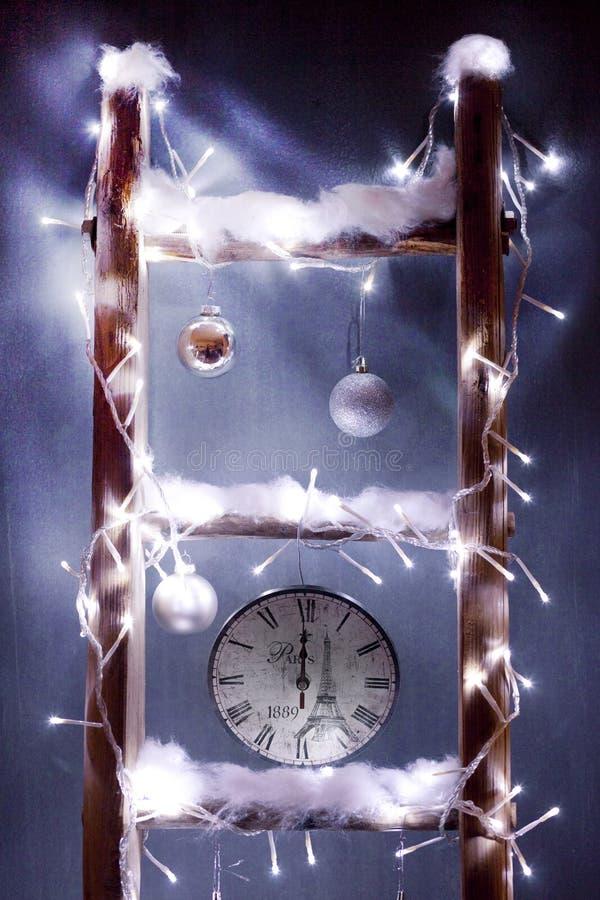 Boże Narodzenie zegar obrazy stock