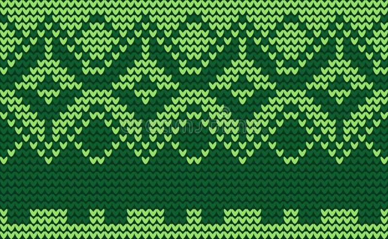 Boże Narodzenie zieleni trykotowy tło royalty ilustracja