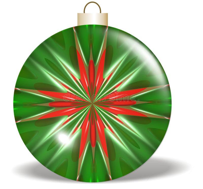 boże narodzenie zielone ornamentu czerwonej gwiazdy royalty ilustracja