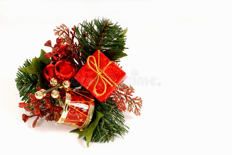 boże narodzenie zielone ornamentu czerwony zdjęcie royalty free