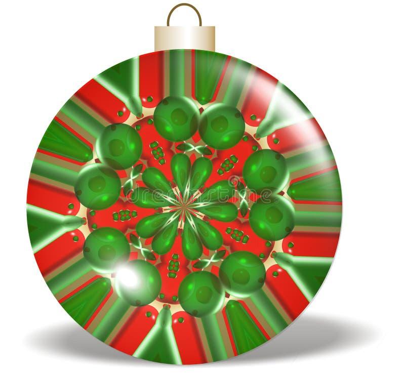boże narodzenie zielone projektu ornamentu czerwony royalty ilustracja
