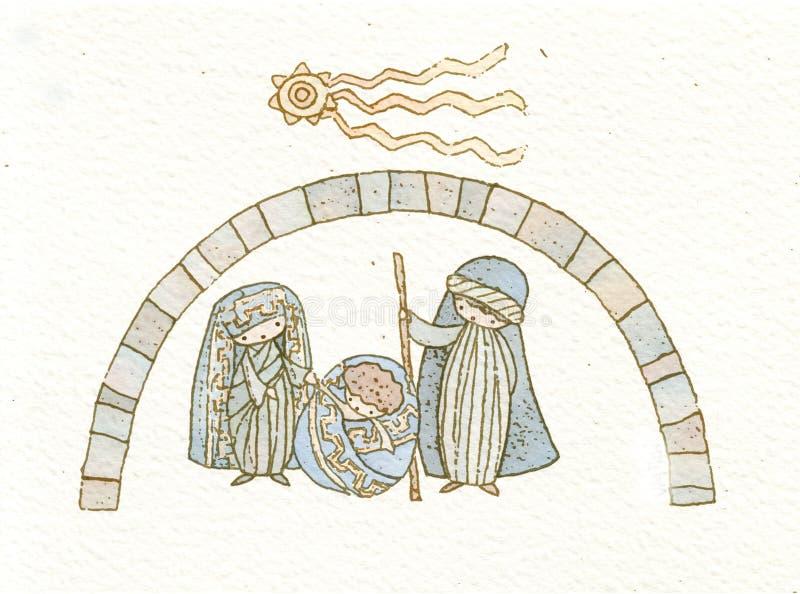 Bożego Narodzenia (1) ściąga ilustracja wektor