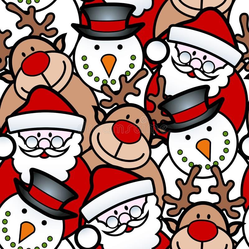 Bożego Narodzenia bezszwowy tło ilustracji