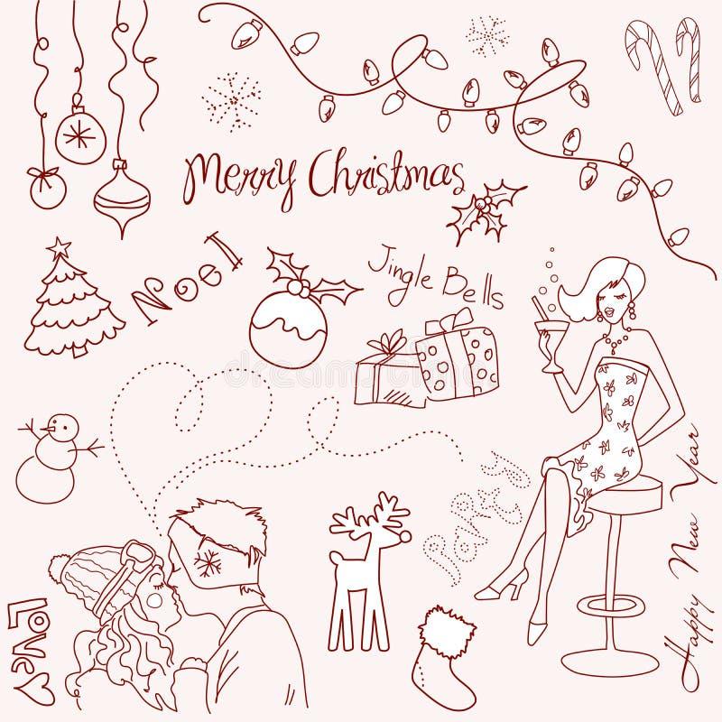 bożego narodzenia doodle ilustracji