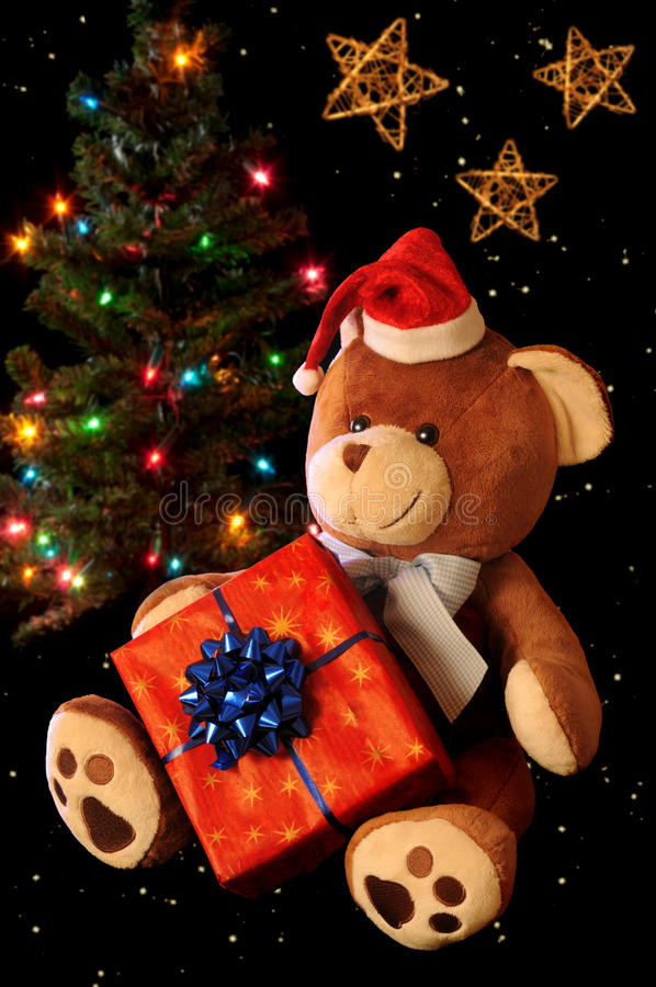bożego narodzenia niedźwiadkowy miś pluszowy zdjęcie royalty free