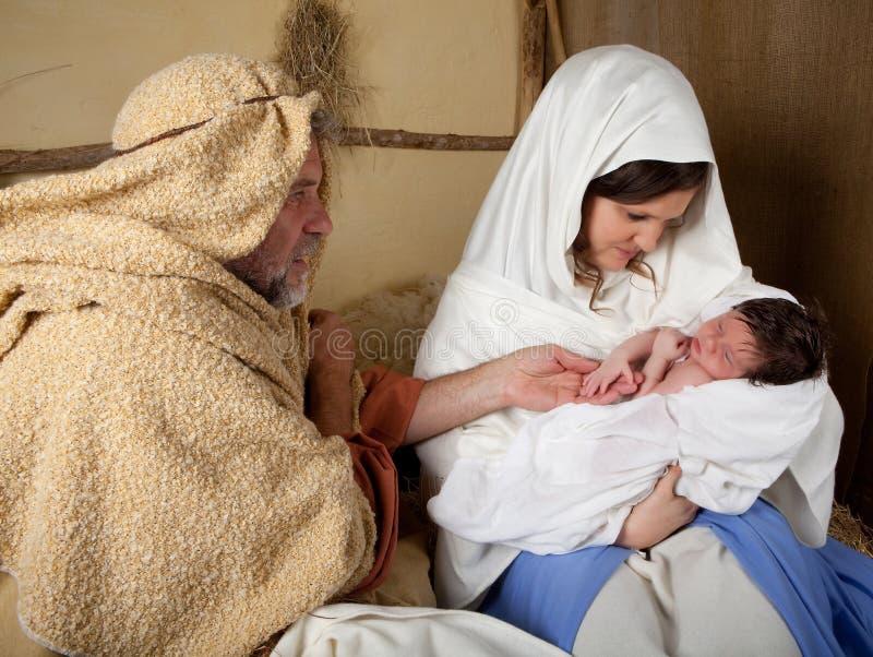 bożego narodzenia reenactment fotografia royalty free