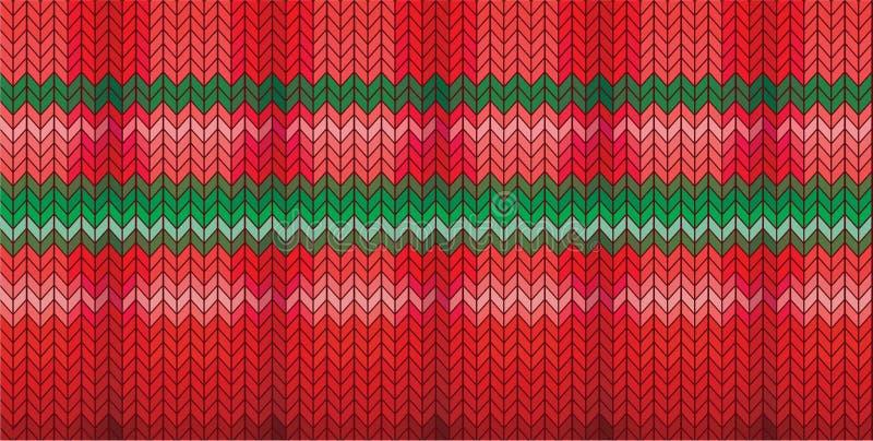 Bożego Narodzenia trykotowy tło ilustracja wektor