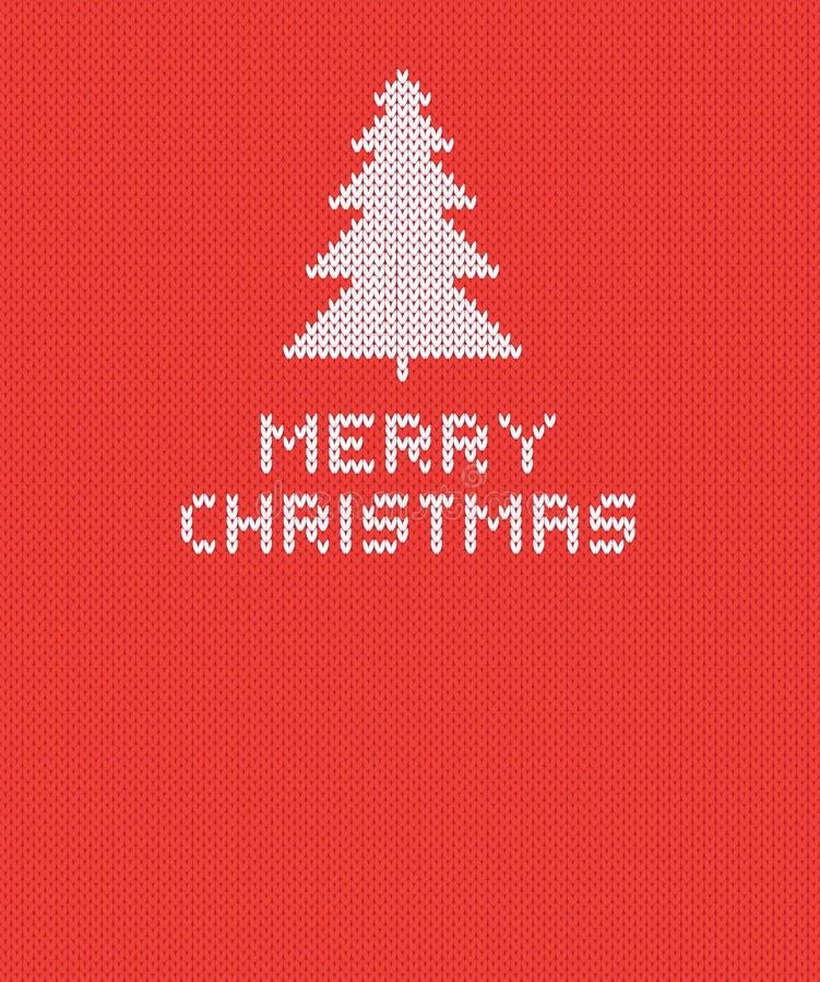 Bożego Narodzenia Trykotowy tło z drzewem również zwrócić corel ilustracji wektora ilustracja wektor