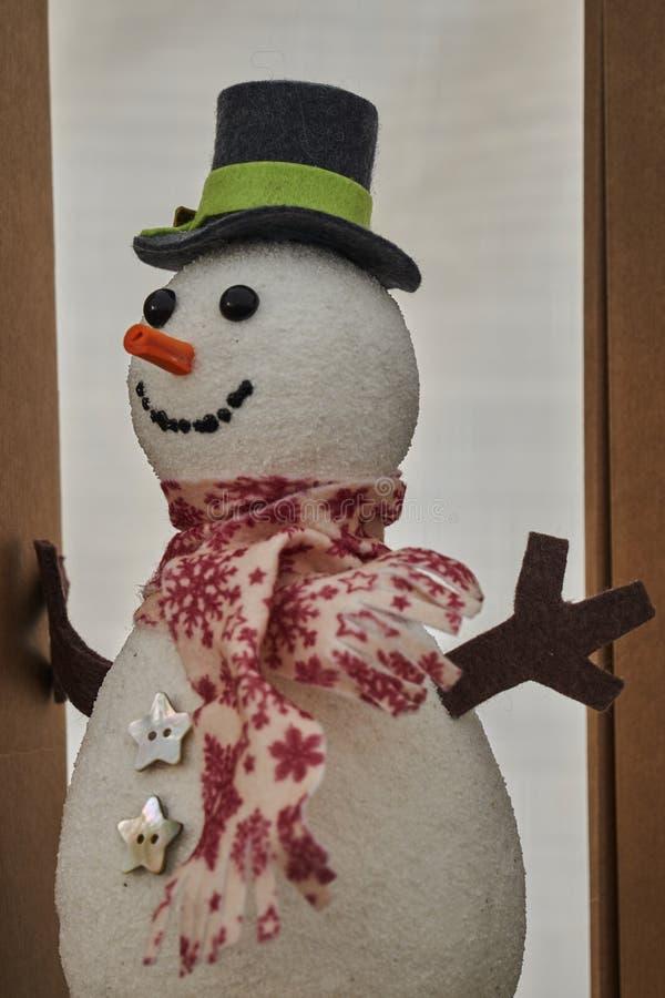 Bożenarodzeniowa śnieżna mężczyzna dekoracja fotografia stock