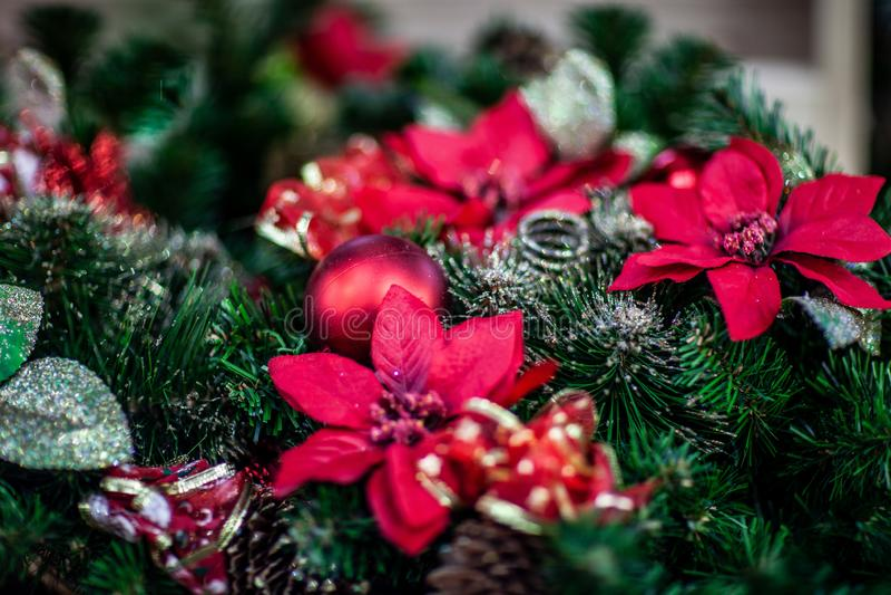 Bożenarodzeniowa atmosfera, nowy rok dekoracje Santa claus obraz royalty free