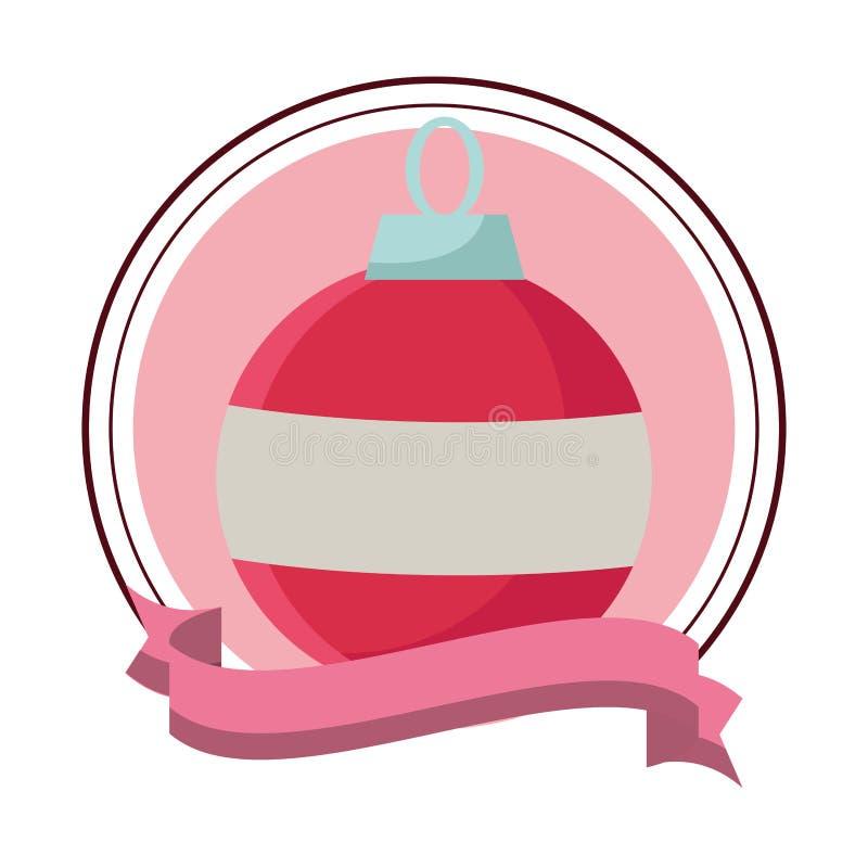 Bożenarodzeniowa balowa ikony round ikona ilustracji