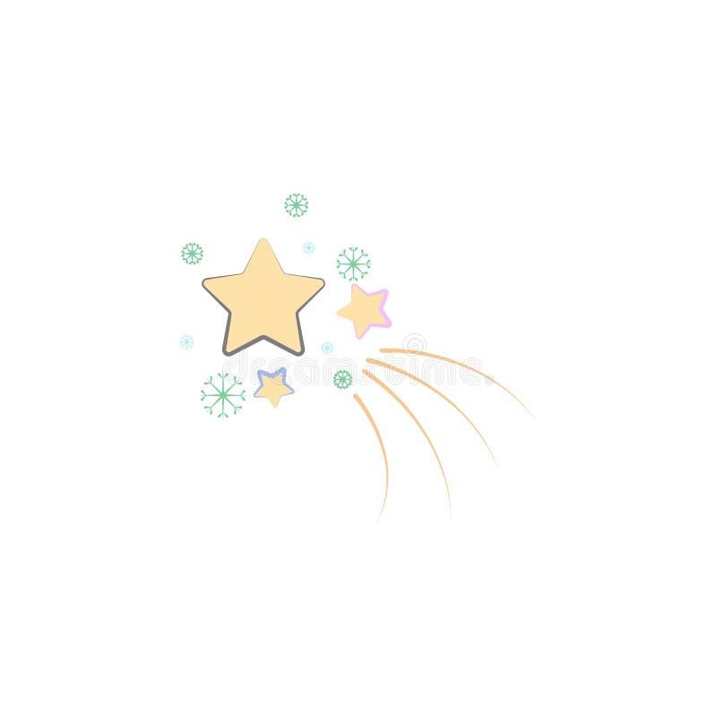 Bożenarodzeniowa Betlejem ikona Element boże narodzenia dla mobilnych pojęcia i sieci apps Barwionych bożych narodzeń gwiazdowa i royalty ilustracja