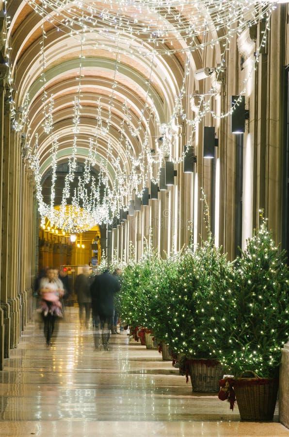 Bożenarodzeniowa dekoracja, Bologan, Włochy obraz stock
