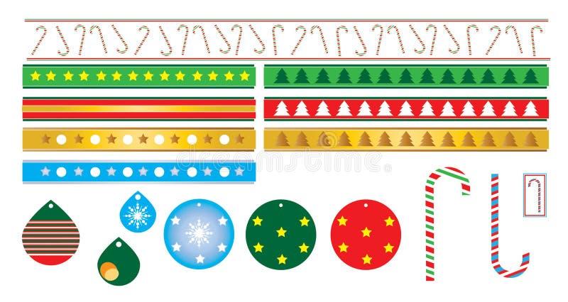 Bożenarodzeniowa dekoracja cukierku trzcina obraz royalty free