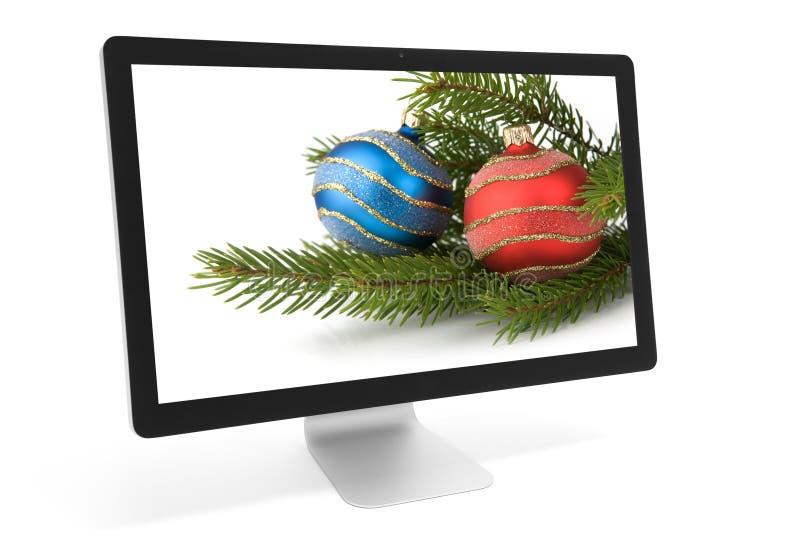 Bożenarodzeniowa dekoracja na ekranie zdjęcia stock