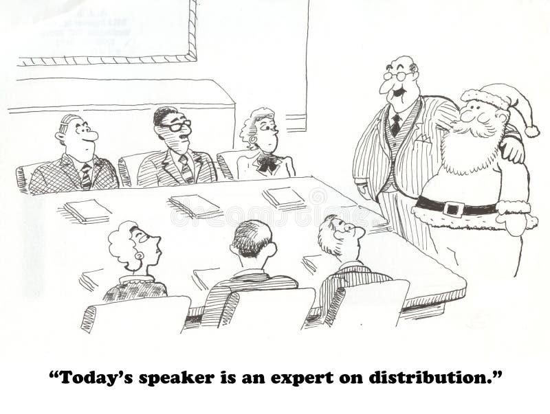 Bożenarodzeniowa dystrybucja ilustracji