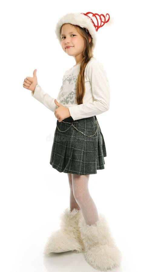 Bożenarodzeniowa dziewczyna zdjęcia stock