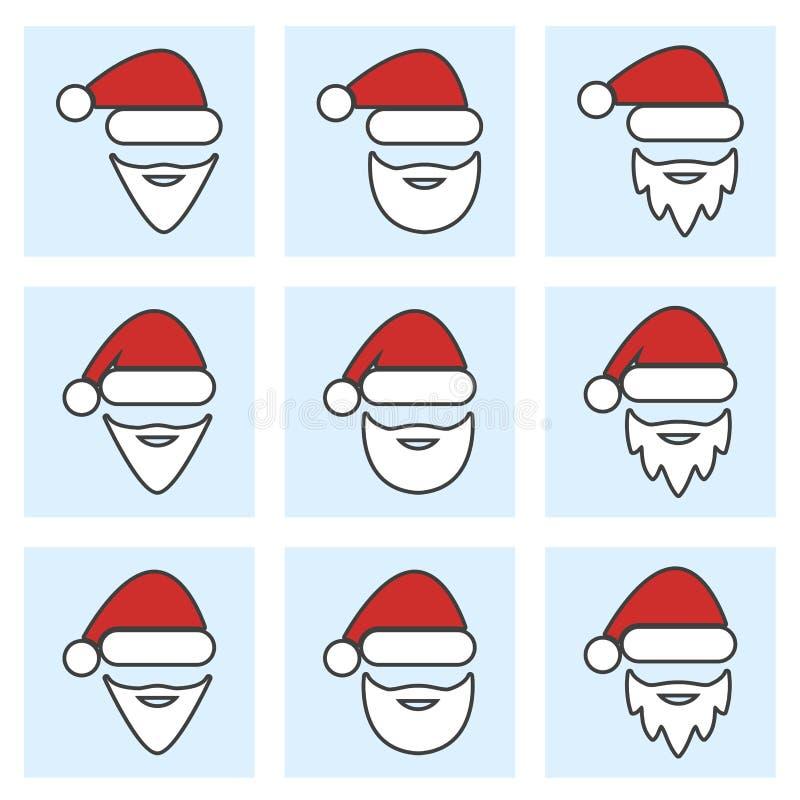 Bożenarodzeniowa ikona ustawiająca Santa Claus royalty ilustracja