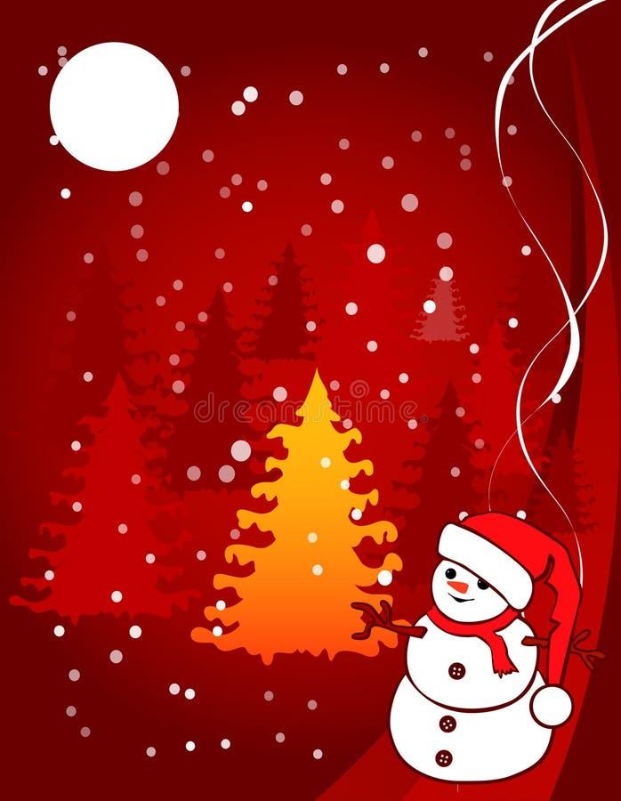 Bożenarodzeniowa ilustracja - snowball ilustracja wektor