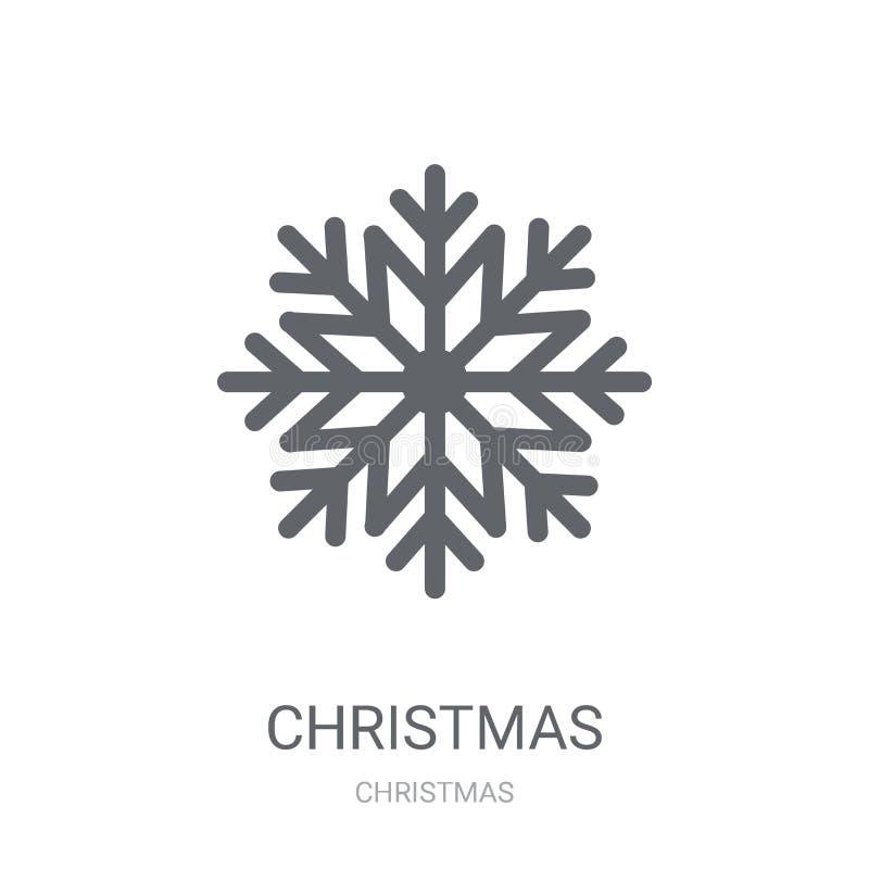 Bożenarodzeniowa płatek śniegu ikona  ilustracji