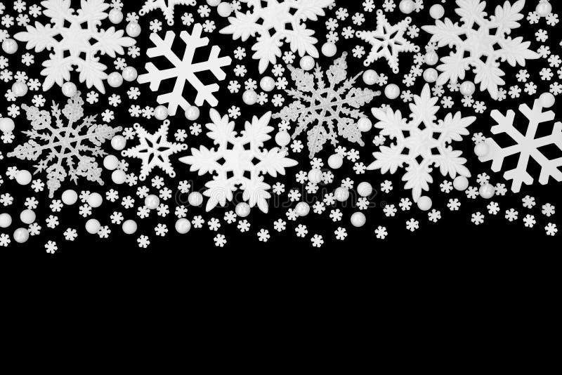 Bożenarodzeniowa płatka śniegu tła granica zdjęcie stock