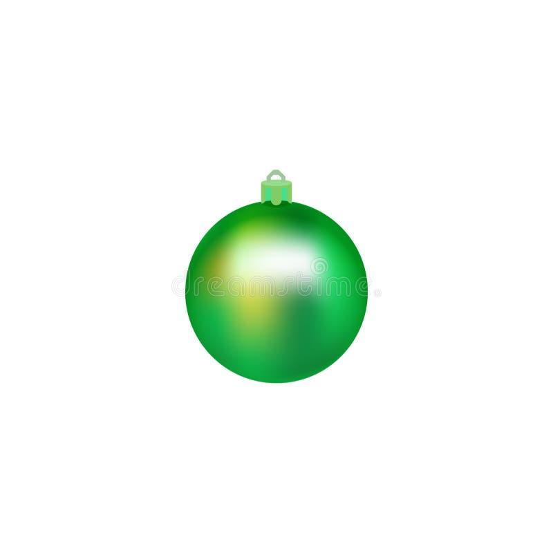 Bożenarodzeniowa piłka Piłka dla choinki również zwrócić corel ilustracji wektora odosobniona realistyczna dekoracja Symbol Szczę royalty ilustracja