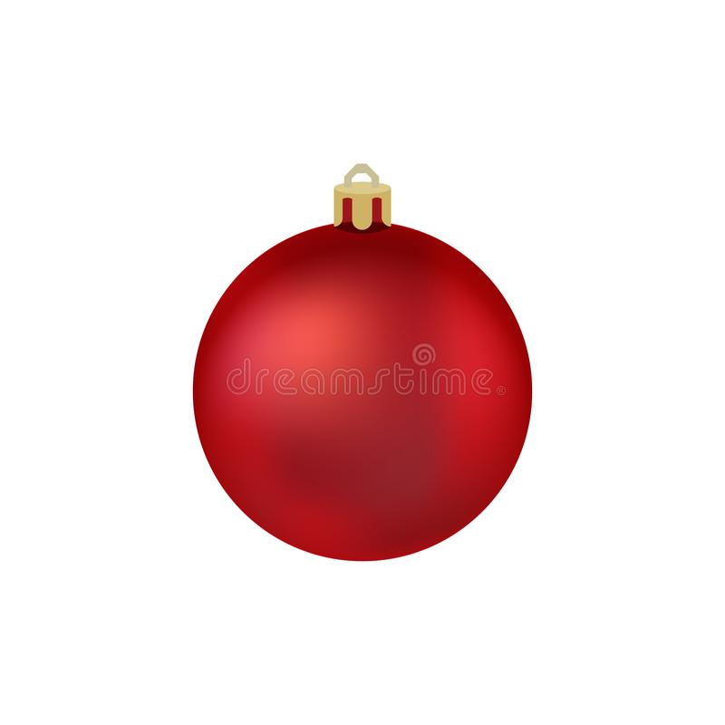 Bożenarodzeniowa piłka Piłka dla choinki również zwrócić corel ilustracji wektora Symbol Szczęśliwy nowy rok, Xmas wakacje święto royalty ilustracja