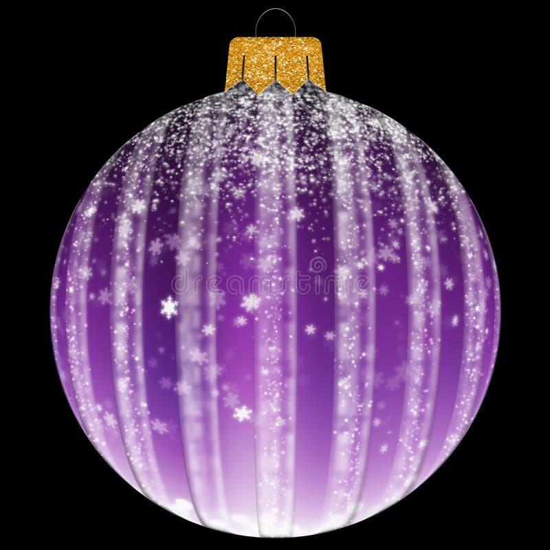 Bożenarodzeniowa piłka z płatek śniegu w purpura kolorze zdjęcia stock