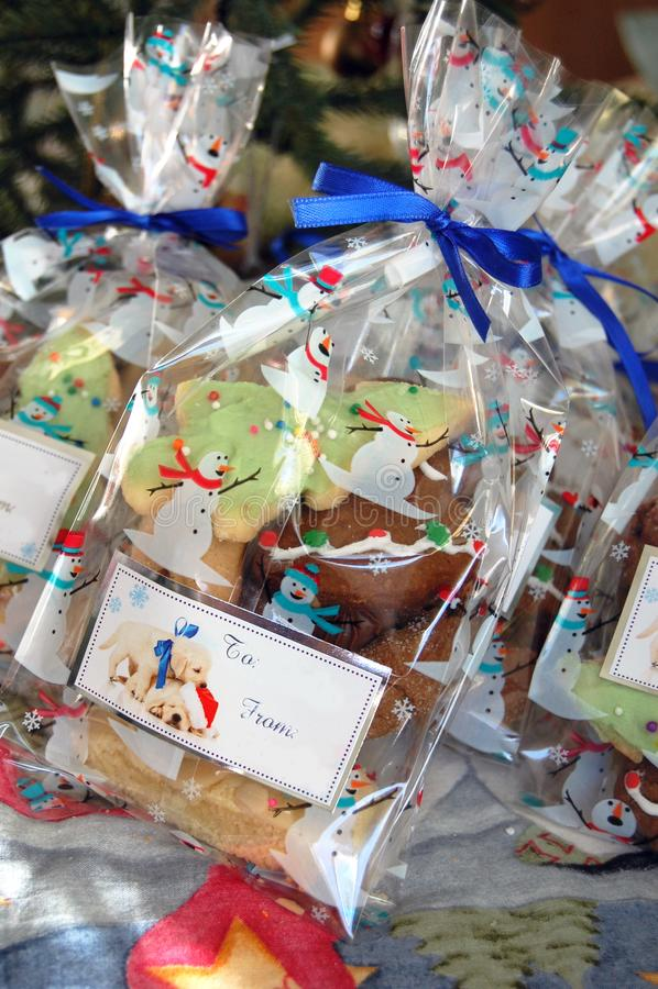Bożenarodzeniowa prezent torba ciastka zdjęcie stock