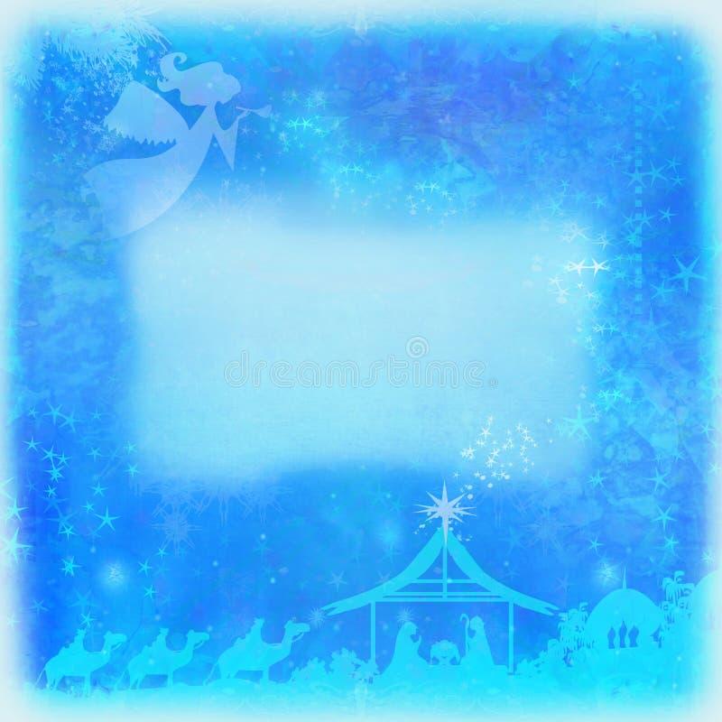 Bożenarodzeniowa religijna narodzenie jezusa scena ilustracji
