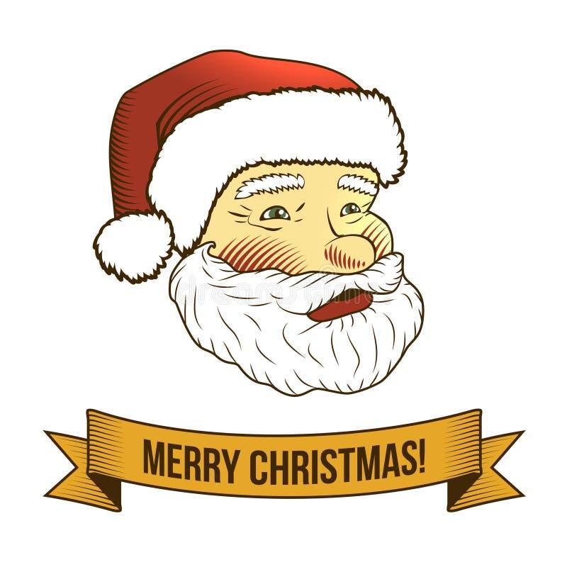 Bożenarodzeniowa Santa Claus ikona ilustracji