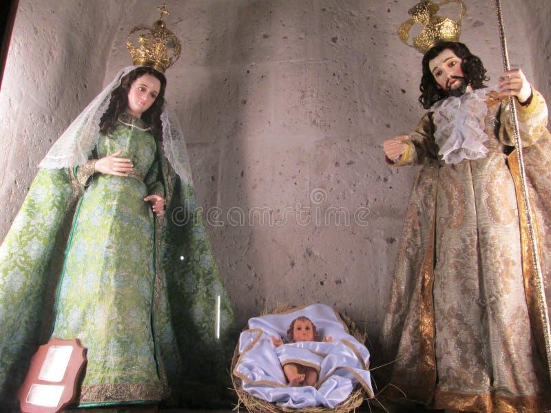 Bożenarodzeniowa scena - Nacimiento obraz royalty free