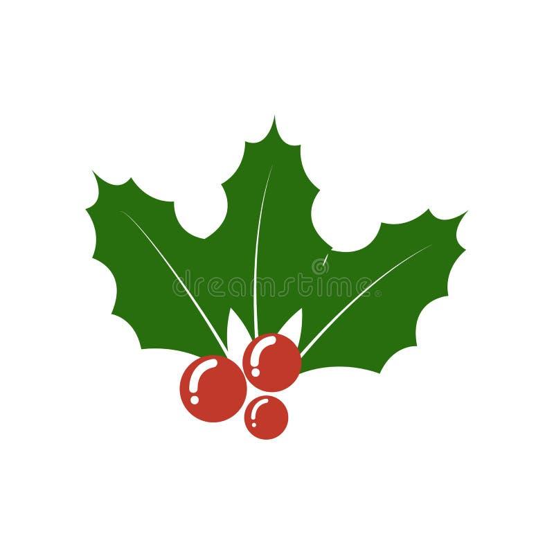 Bożenarodzeniowa uświęcona jagodowa ikona Bożenarodzeniowy symbol ilustracji