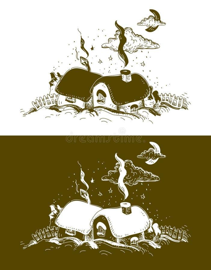 Bożenarodzeniowa wioska royalty ilustracja