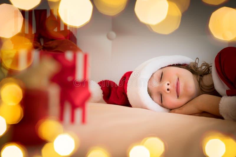Bożenarodzeniowa Xmas dziecka wakacje zima obrazy royalty free
