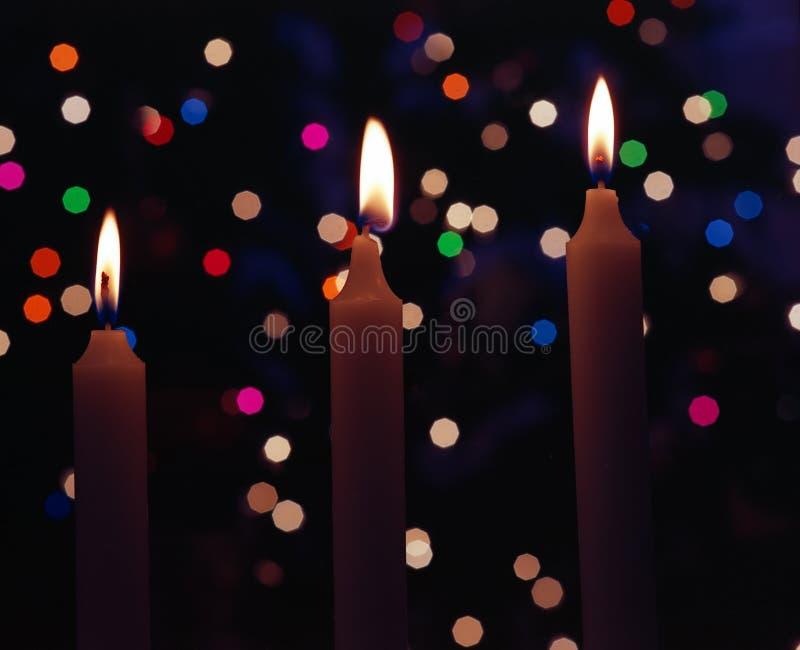 Bożenarodzeniowe świeczki obrazy royalty free