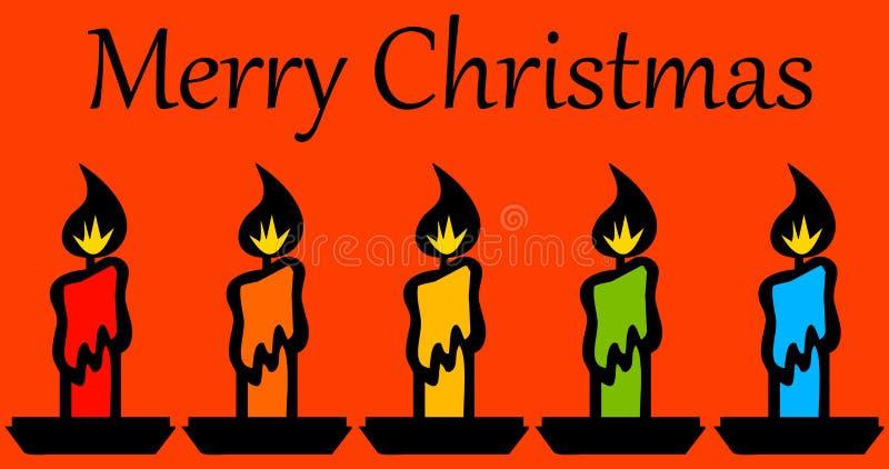Download Bożenarodzeniowe świeczki ilustracji. Ilustracja złożonej z czerwień - 28958549
