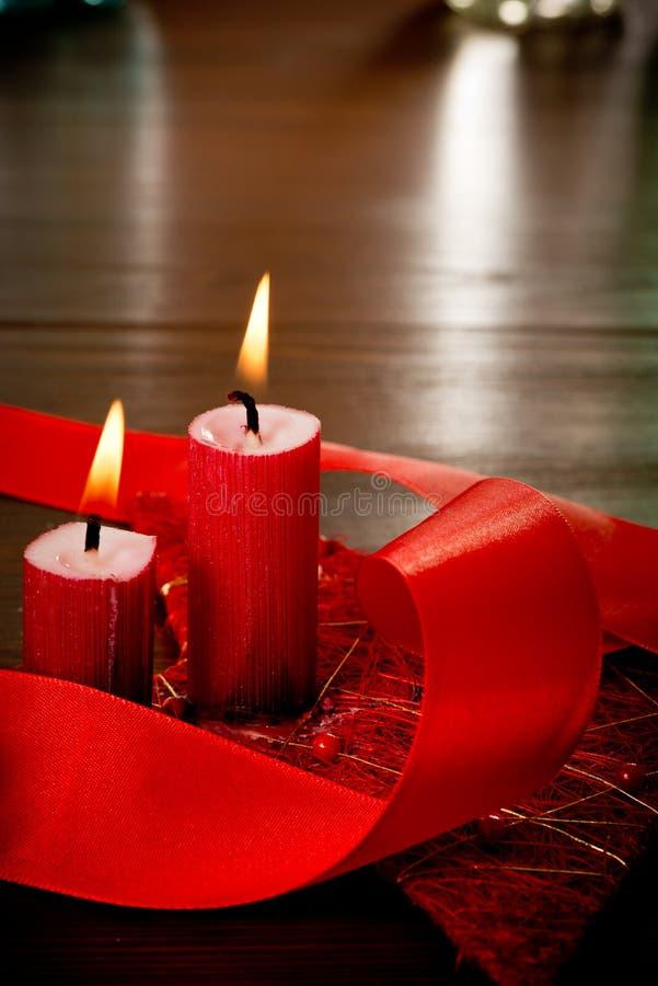 Bożenarodzeniowe świeczki obrazy stock