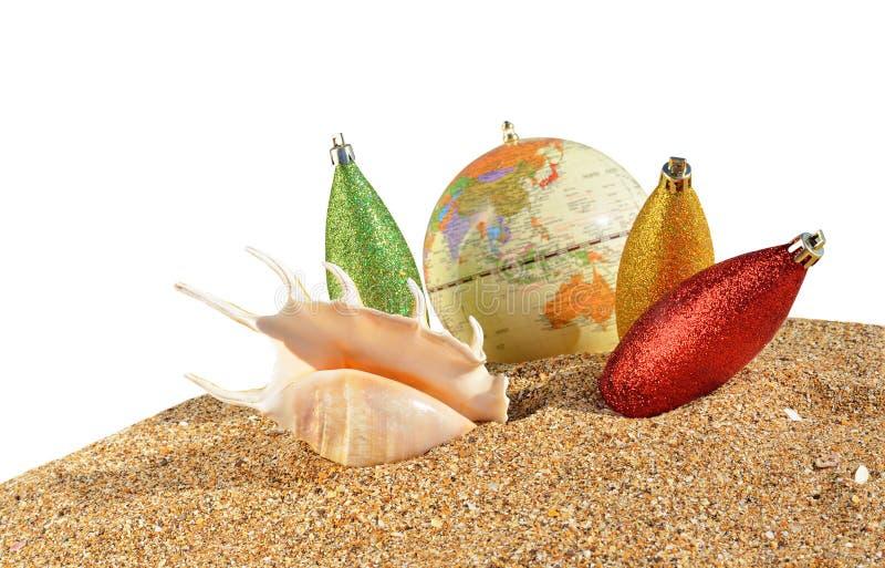 Bożenarodzeniowe dekoracje i seashell zdjęcie royalty free