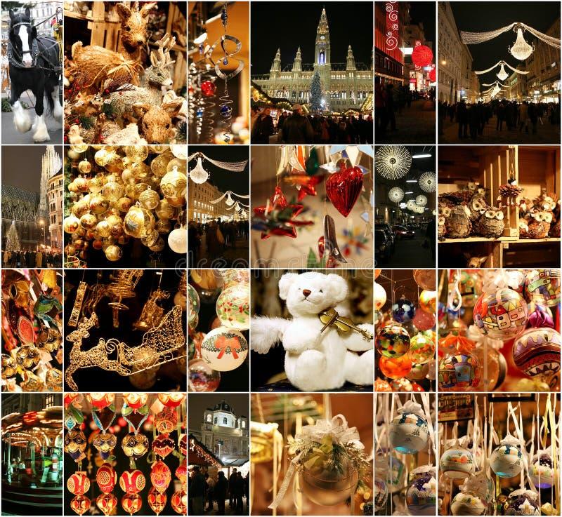 Bożenarodzeniowe dekoracje na rynku w Wiedeń obraz stock
