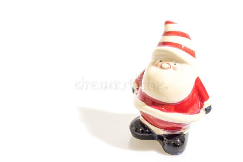 Bożenarodzeniowe dekoracje, Santa Claus odizolowywający w białym backgroun obrazy stock
