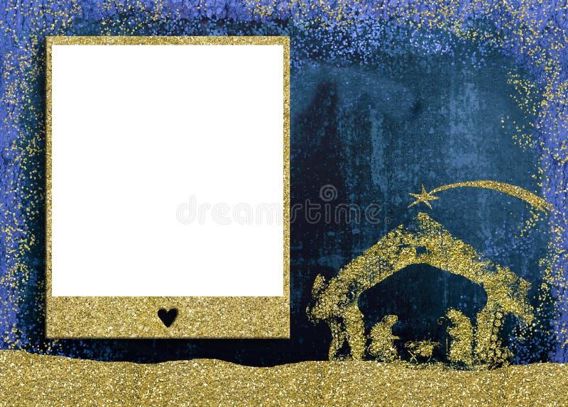 Bożenarodzeniowe fotografii ramy karty royalty ilustracja